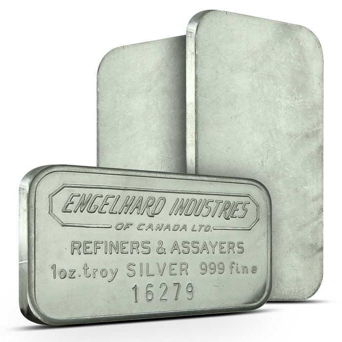Engelhard Industries of Canada 1 oz Silver Bar