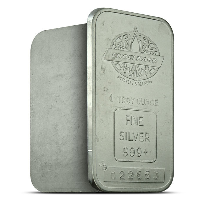 Engelhard Maple Leaf 1 oz Silver Bar Design 2
