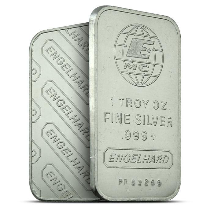 Engelhard 1 oz Silver Bar | Emc Logo