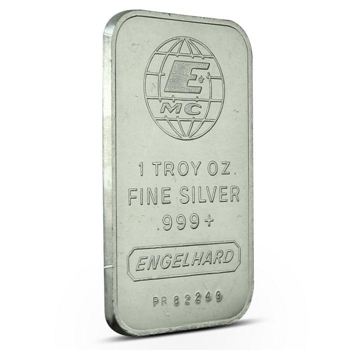 Engelhard 1 oz Silver Emc Logo Obverse