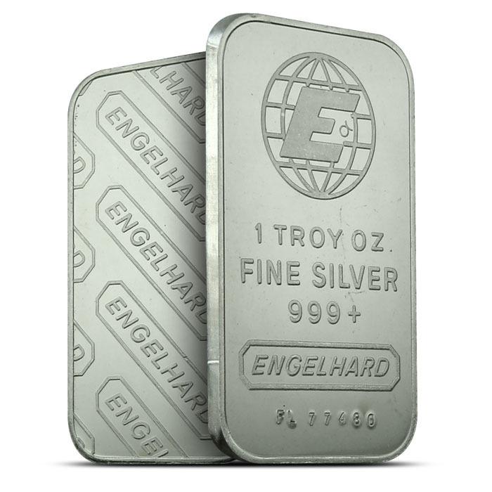 Engelhard 1 oz Silver Bar | Large E Logo