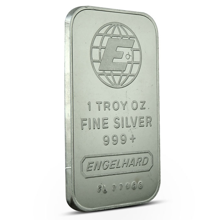 Engelhard Large E Logo Silver 1 oz Bar Obverse