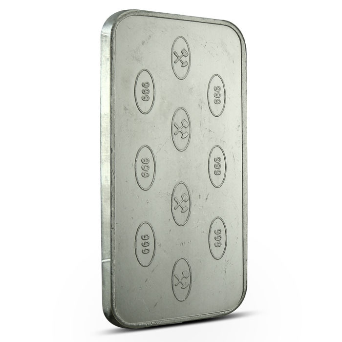 Johnson Matthey Bankers Ltd 100 gram bar Reverse
