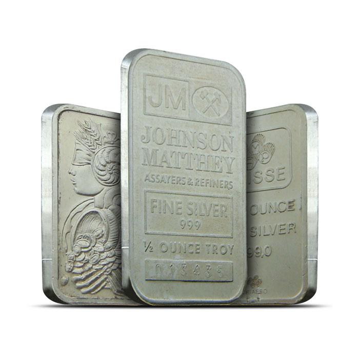 Half Ounce Silver Bars | Our Choice