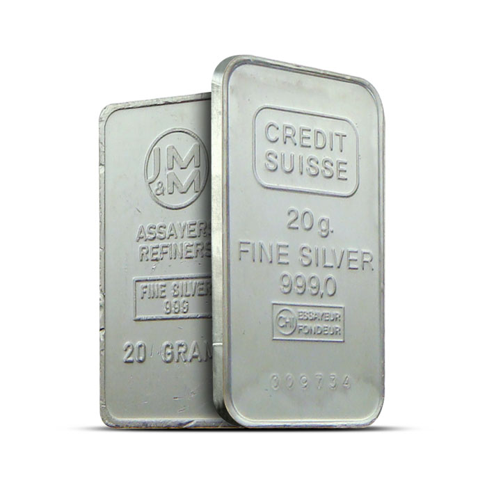 20 gram Silver Bars | Our Choice