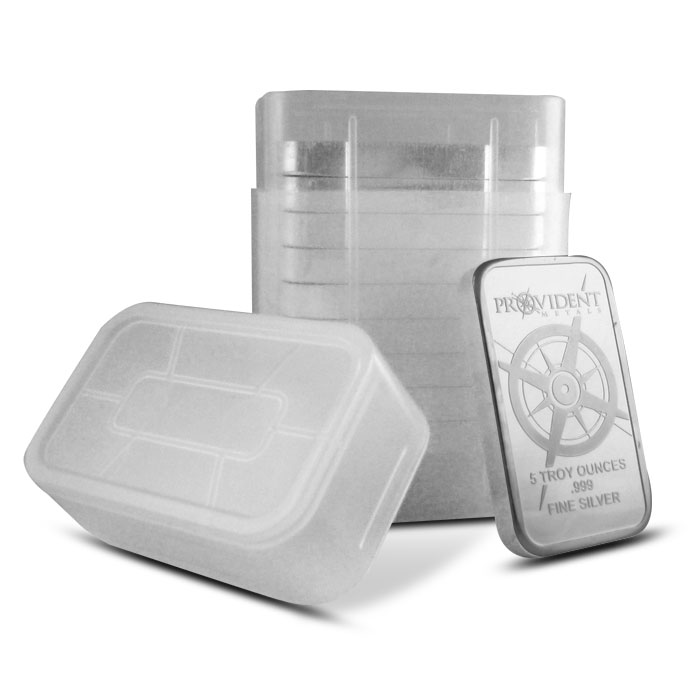 Provident Metals 5 ounce Silver Bars with Tube of 10