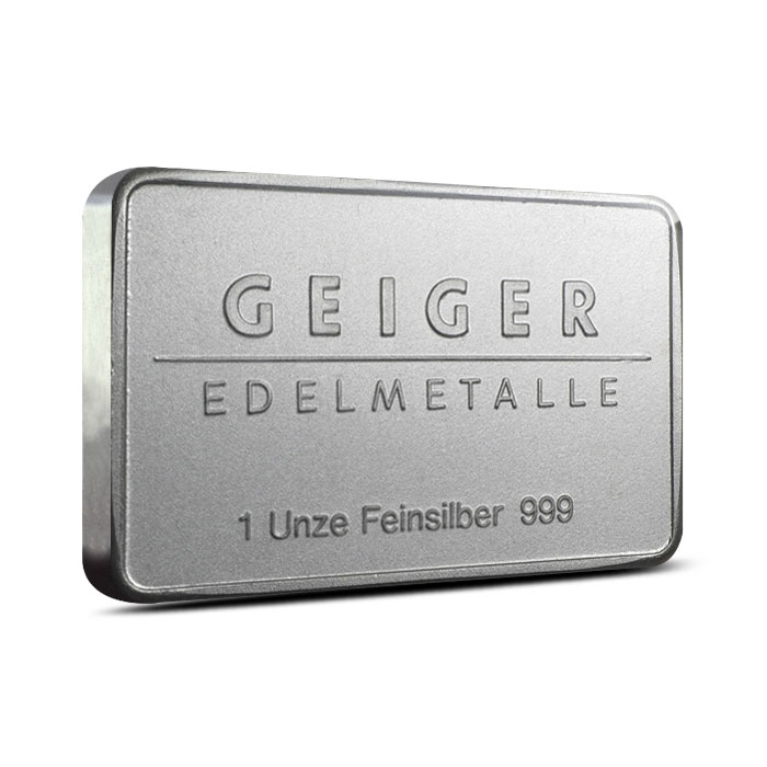 1 oz Geiger Security Line Silver Bar Reverse