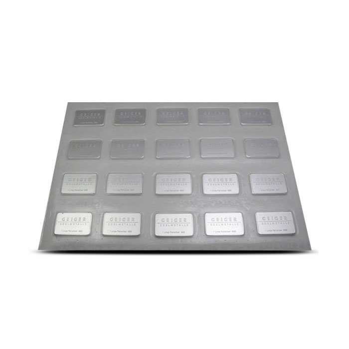 1 oz Geiger Security Line Silver Bar 20 CT Sheet
