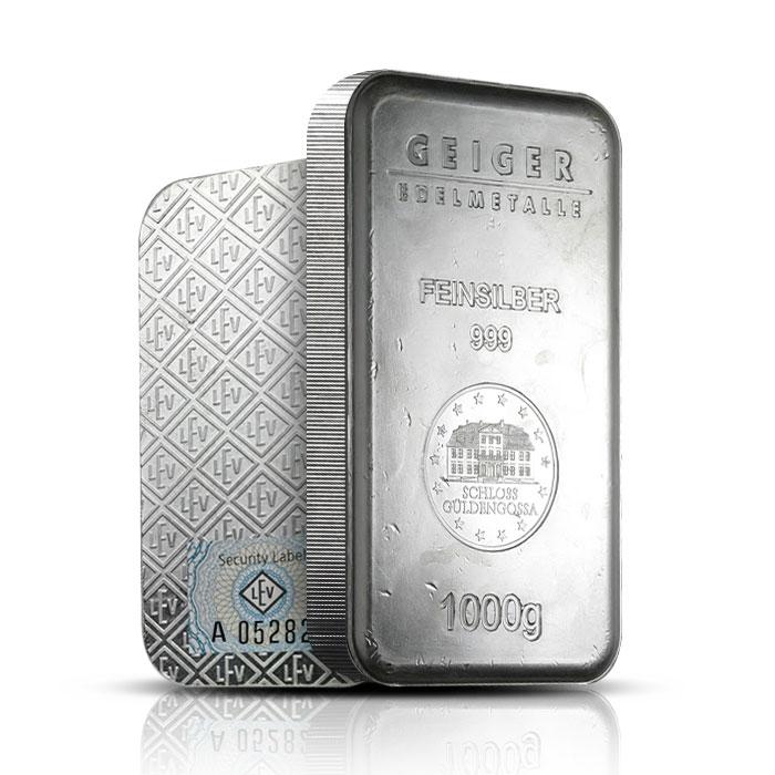 1 Kilo Geiger Security Line Silver Bar
