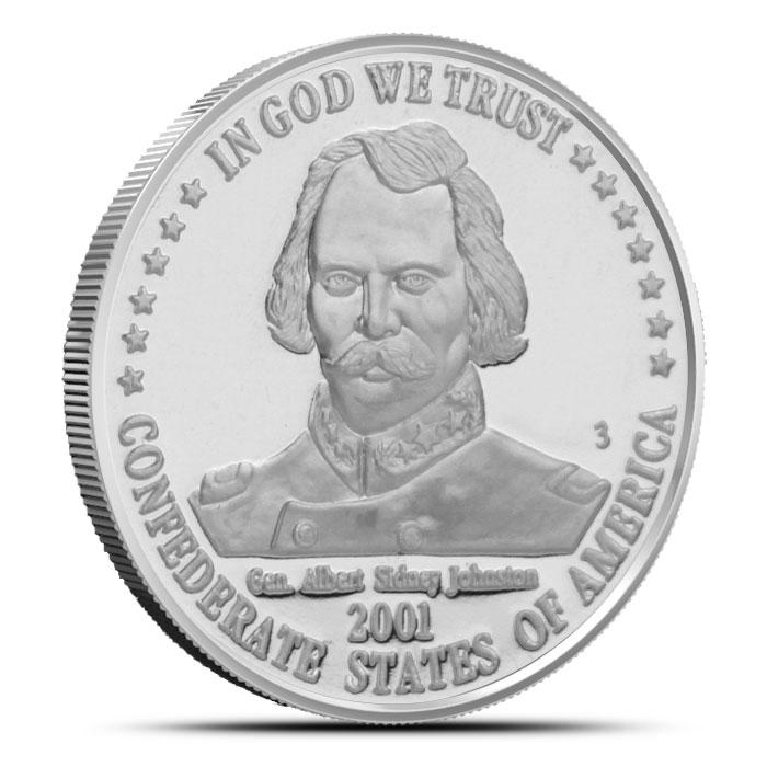 1 oz Silver Confederate States of America | Gen. Albert Sidney Johnston