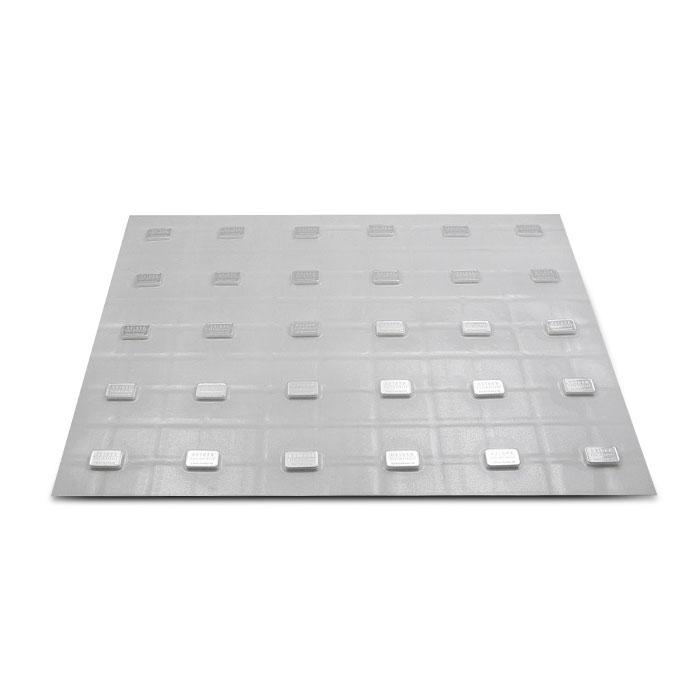 5 Gram Geiger Security Line Silver Bar Sheet