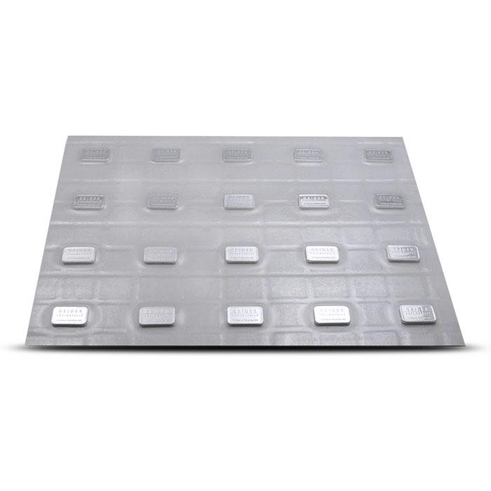 10 Gram Geiger Security Line Silver Bar 20 CT Sheet