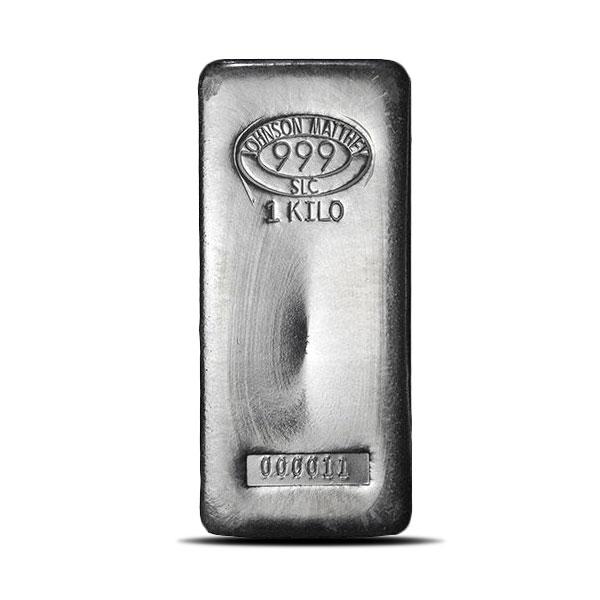 Johnson Matthey 1 Kilo (32.151 Troy oz) Silver Bar | New SLC Design