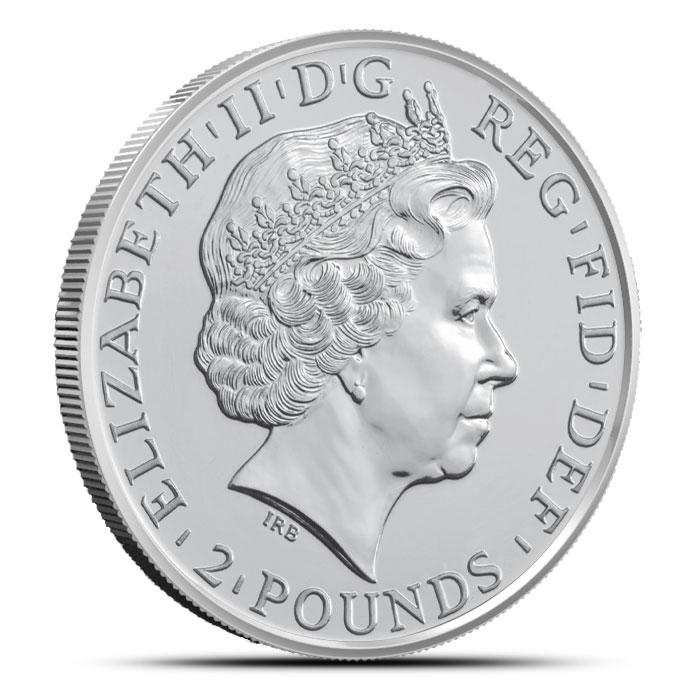 2015 British Royal Mint 1 oz Silver Lunar Year of the Sheep Reverse
