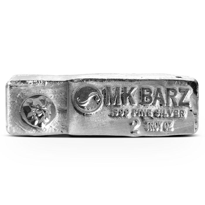 Kitkat 2 oz Poured Silver Bar | MK BarZ