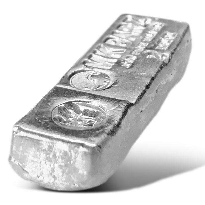 MK BarZ 2 oz Poured Silver Kitkat Bar