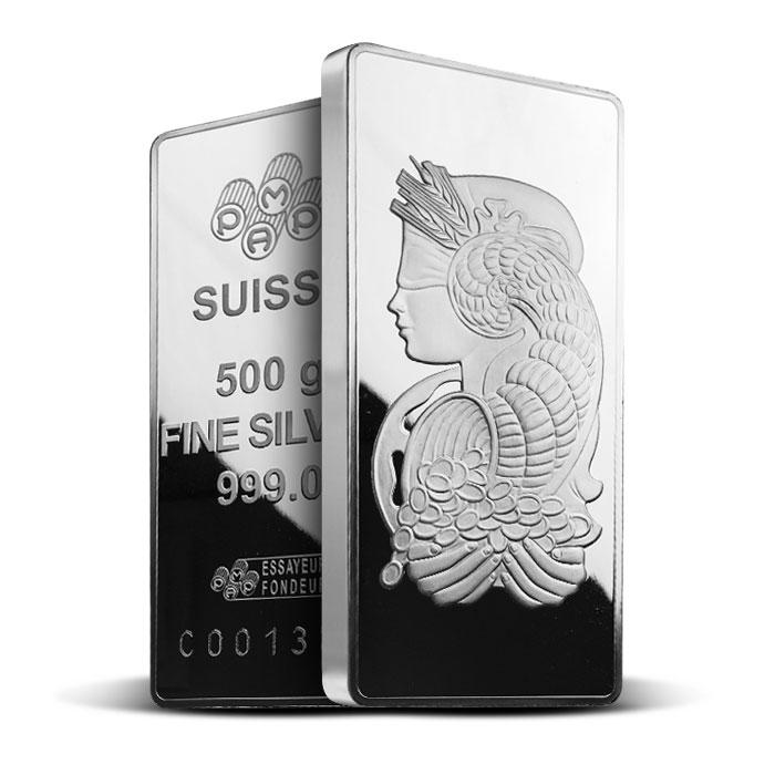 PAMP Suisse 500 gram Silver Fortuna Bar