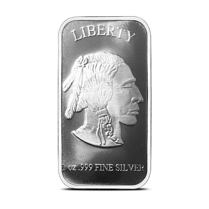 1 oz Silver Bar | SilverTowne Buffalo