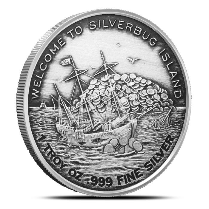 Silverbugs Mermaid 1 oz Silver Round | Antiqued