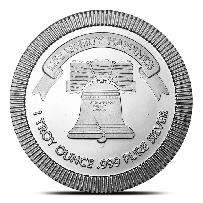 Liberty Bell 1 oz Silver Round