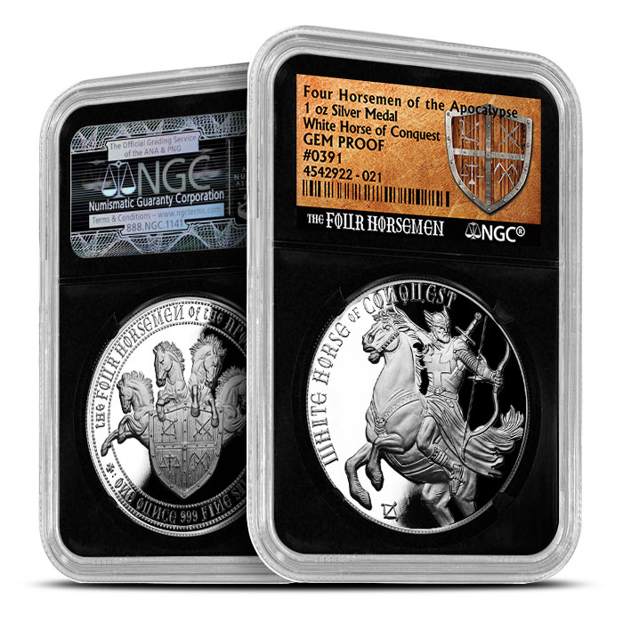 White Horse of Conquest | NGC GEM Proof