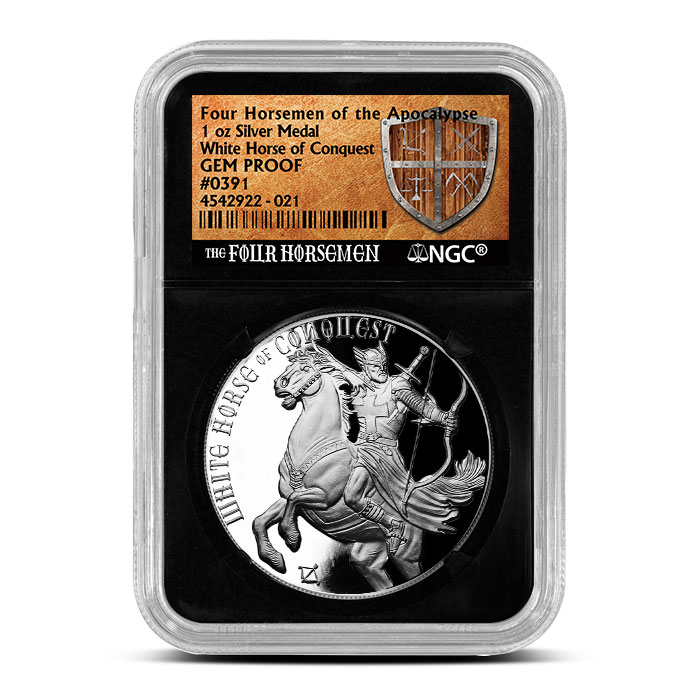 GEM Proof White Horse of Conquest | NGC