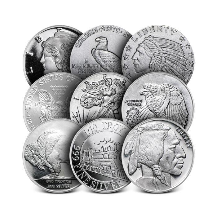 1/10 oz Silver Round