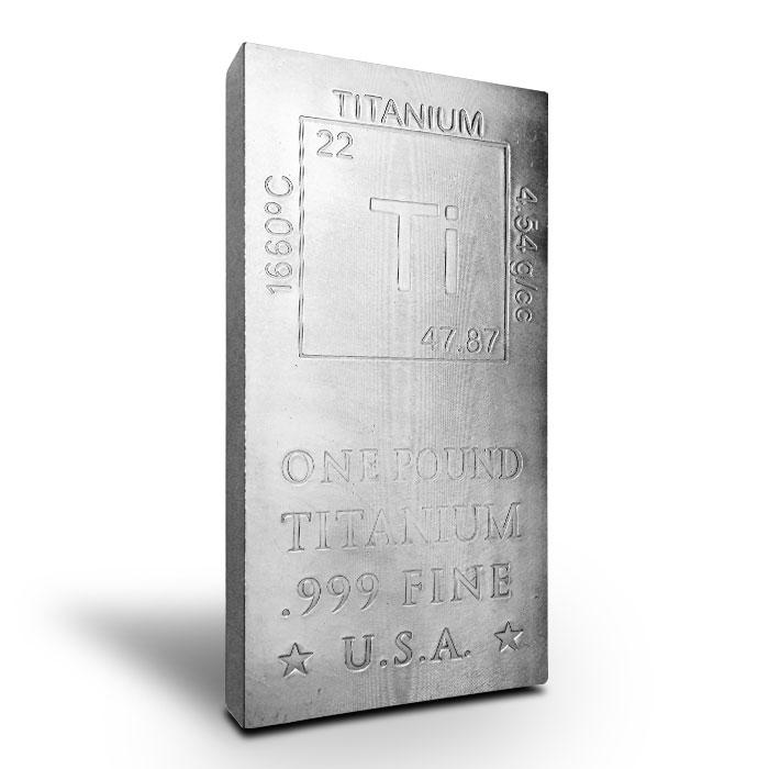 Elemetal | 1 AVDP Pound .999 Fine Titanium Bar