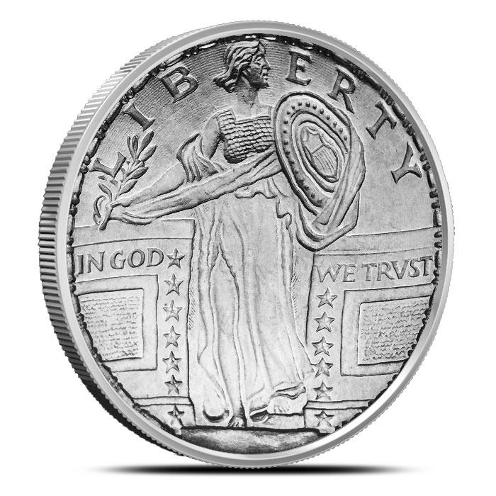 Standing Liberty 1 oz Titanium Round