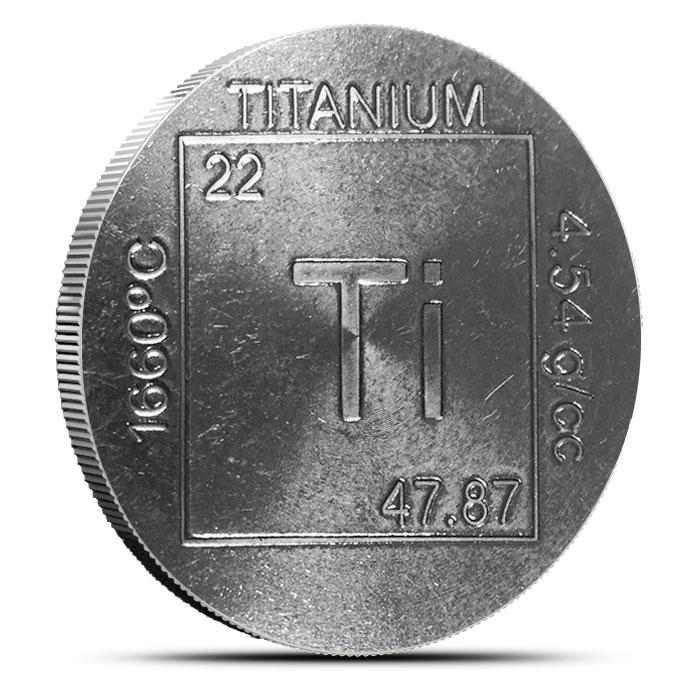 Elemental 1 oz Titanium Round
