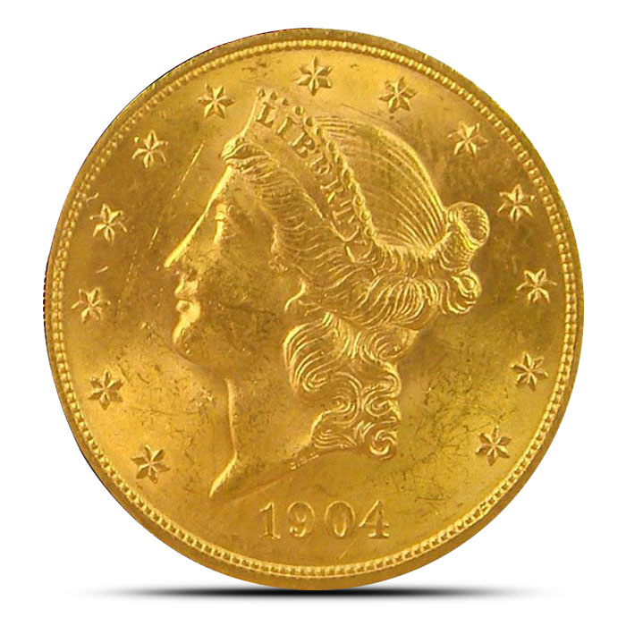 $20 Liberty | Gold Double Eagle AU+ Obverse