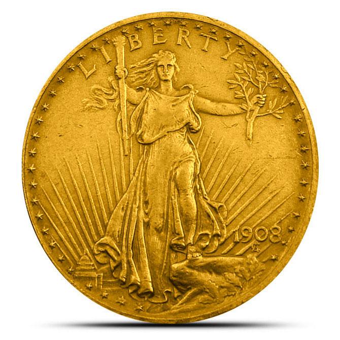 $20 Saint Gaudens US Mint Gold Double Eagle Obverse