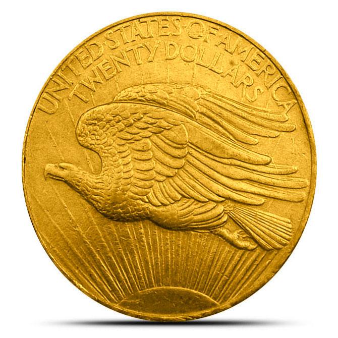 $20 Saint Gaudens US Mint Gold Double Eagle Reverse