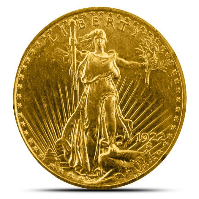 $20 Saint Gaudens US Mint Gold Double Eagle XF+ Obverse