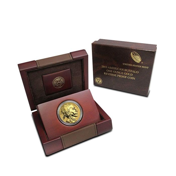 2013-W Reverse Proof Gold Buffalo with Box & COA