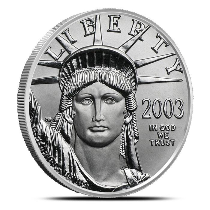 1 oz US American Platinum Eagle Coin Obverse