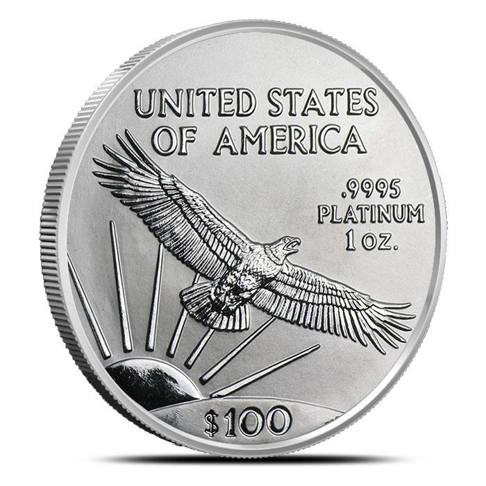 1 oz US American Platinum Eagle Coin Reverse