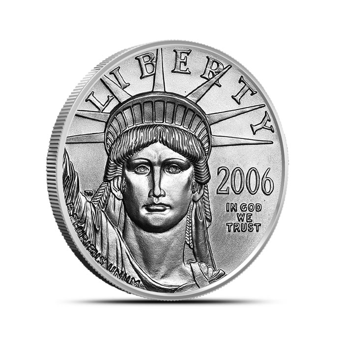 1/2 oz US American Platinum Eagle Coin Obverse