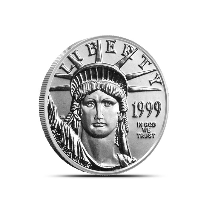 1/4 oz US American Platinum Eagle Coin Obverse