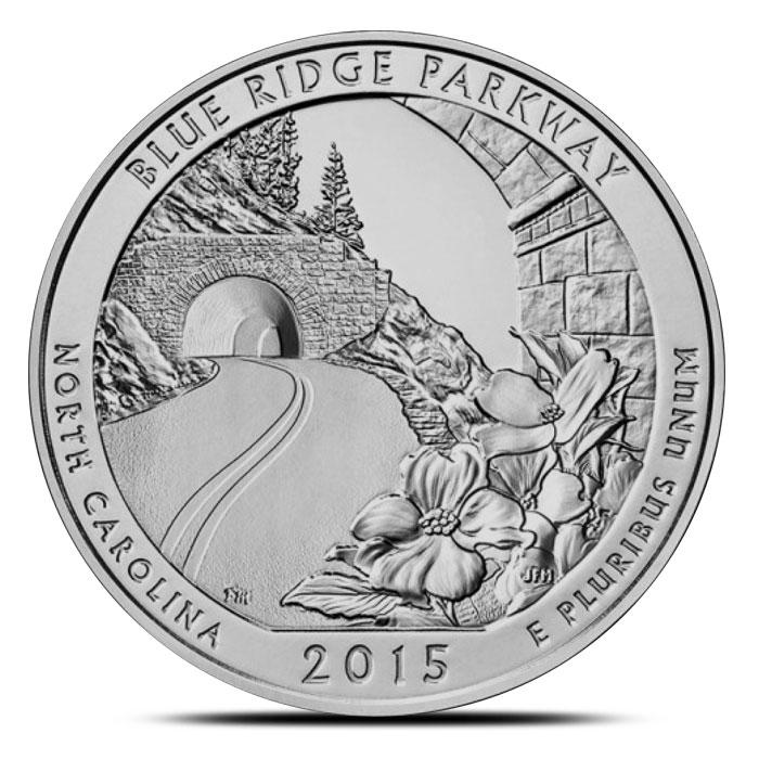 2015 Blue Ridge Parkway 5 oz Silver ATB