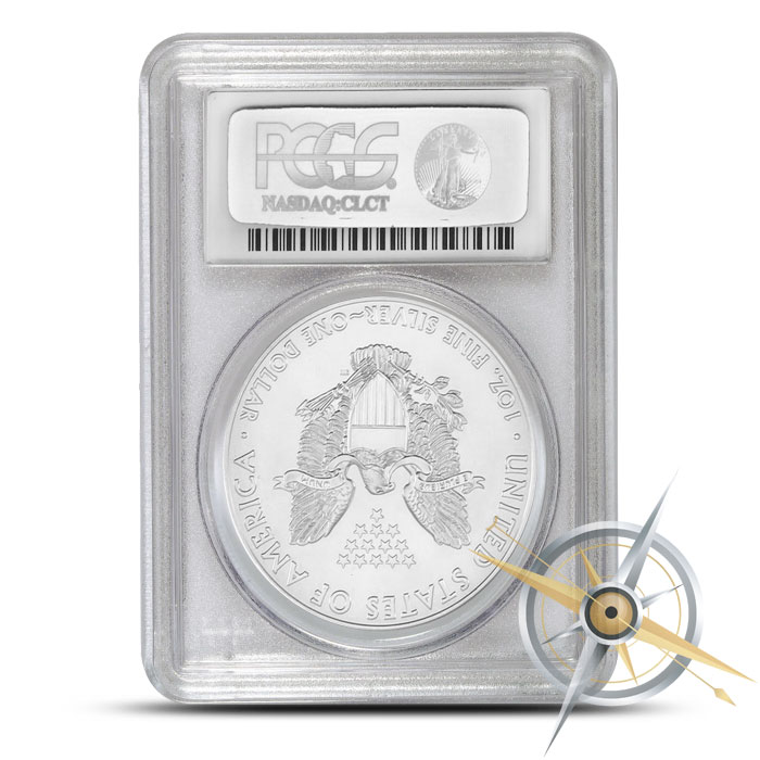 2015 one ounce American Silver Eagle PCGS MS70 | Flag Label