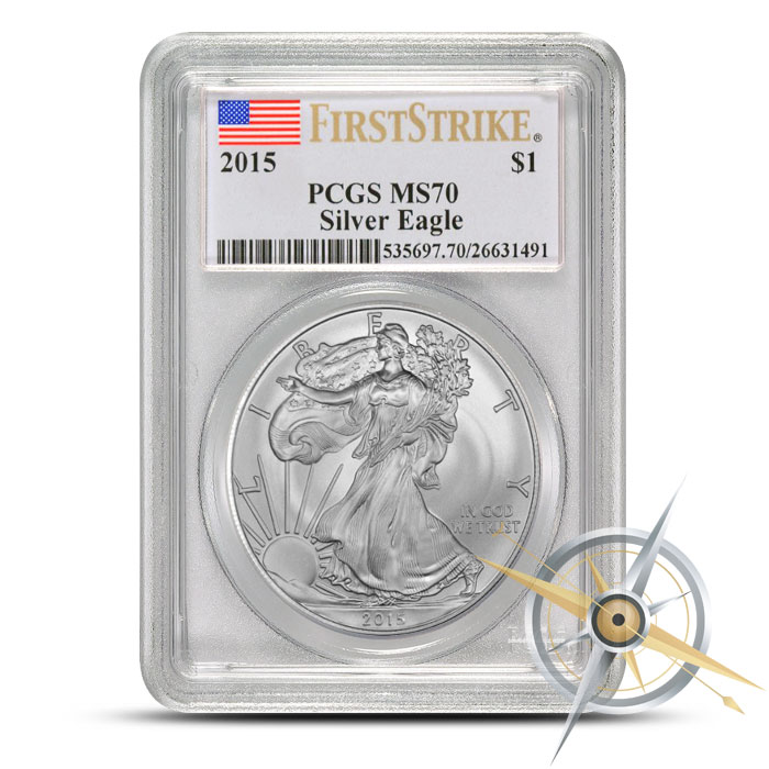 2015 American Silver Eagle - Flag Label | PCGS MS70