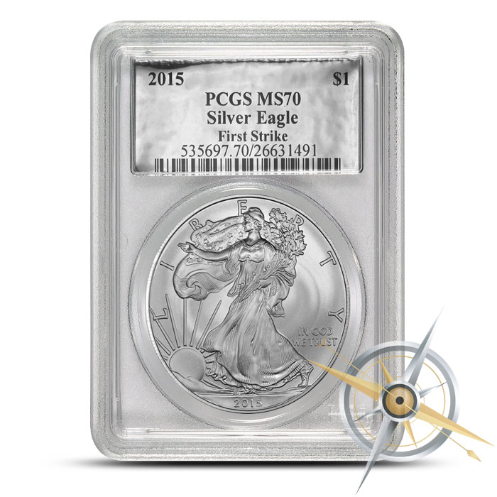 2015 one ounce American Silver Eagle PCGS MS70 | Silver Foil Label