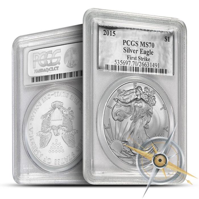 2015 1 oz American Silver Eagle PGCS MS70 | Silver Foil Label