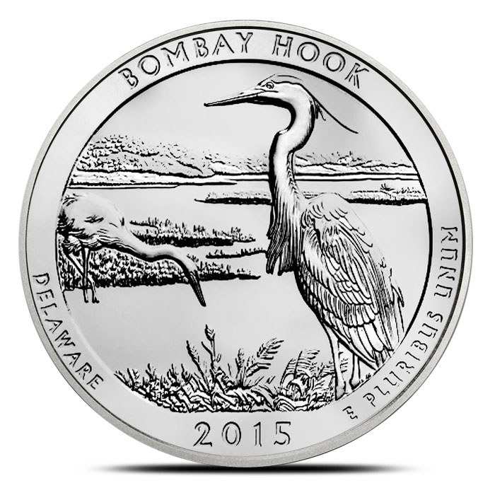 2015 Bombay Hook National Wildlife Refuge 5 oz Silver ATB