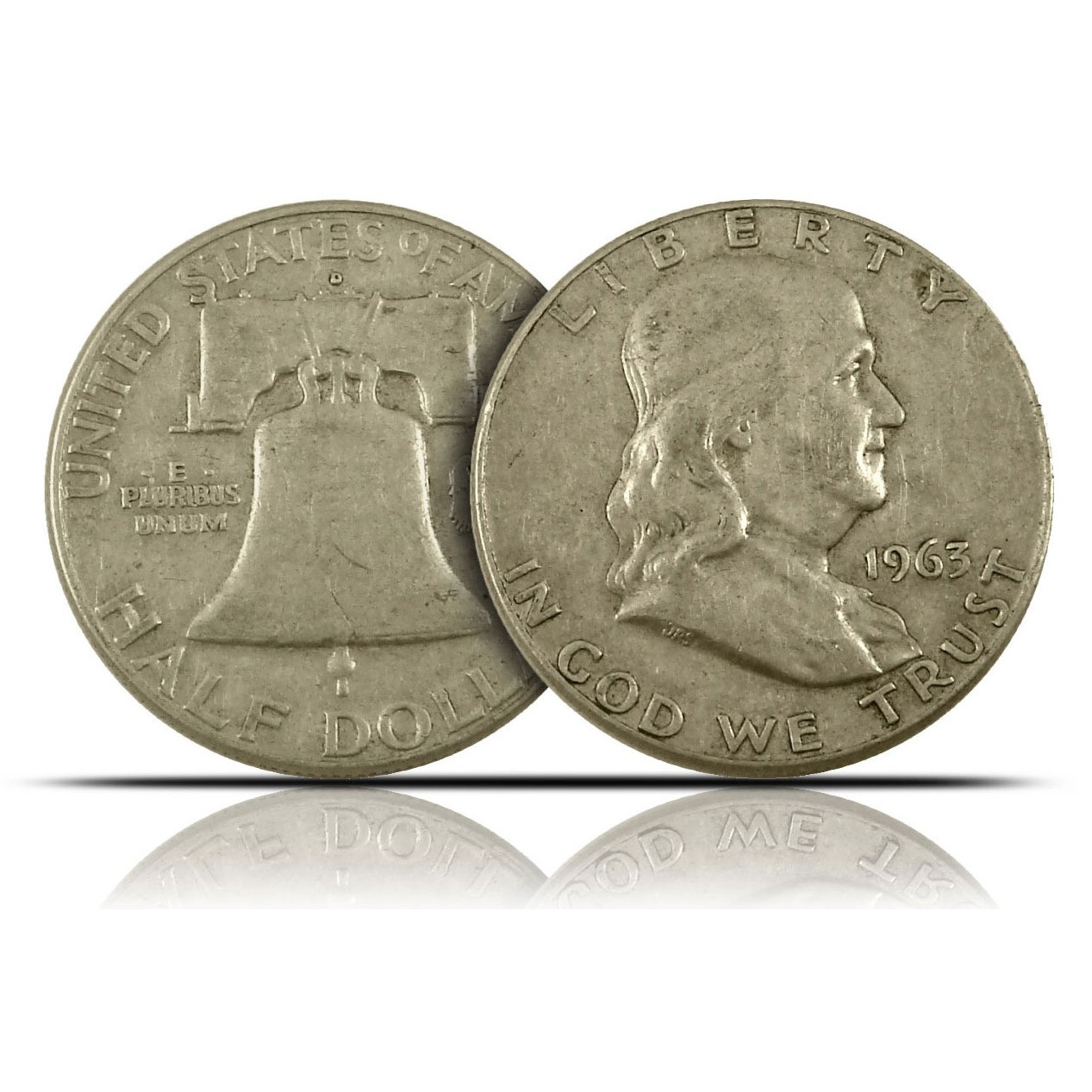 $100 Face Value Bag of 90% Silver Franklin Half Dollars-20302