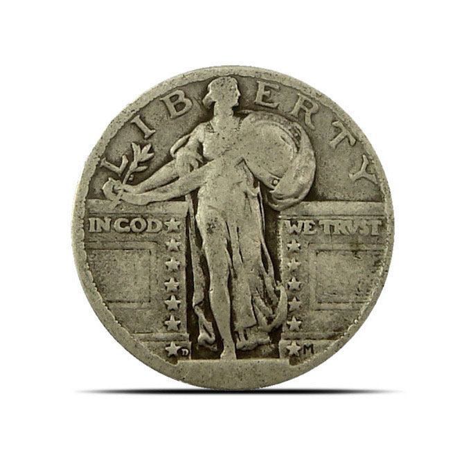 No Date Standing Liberty Quarter Obverse