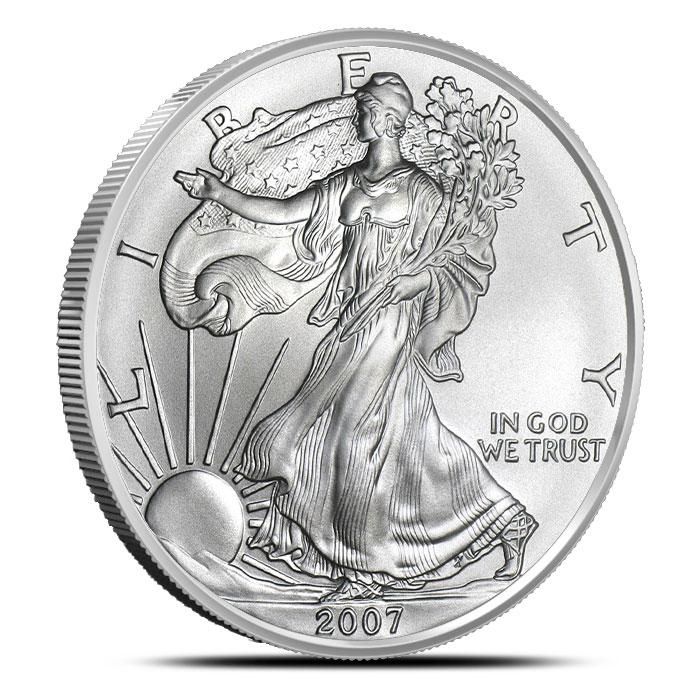 2007-W Burnished American Silver Eagle