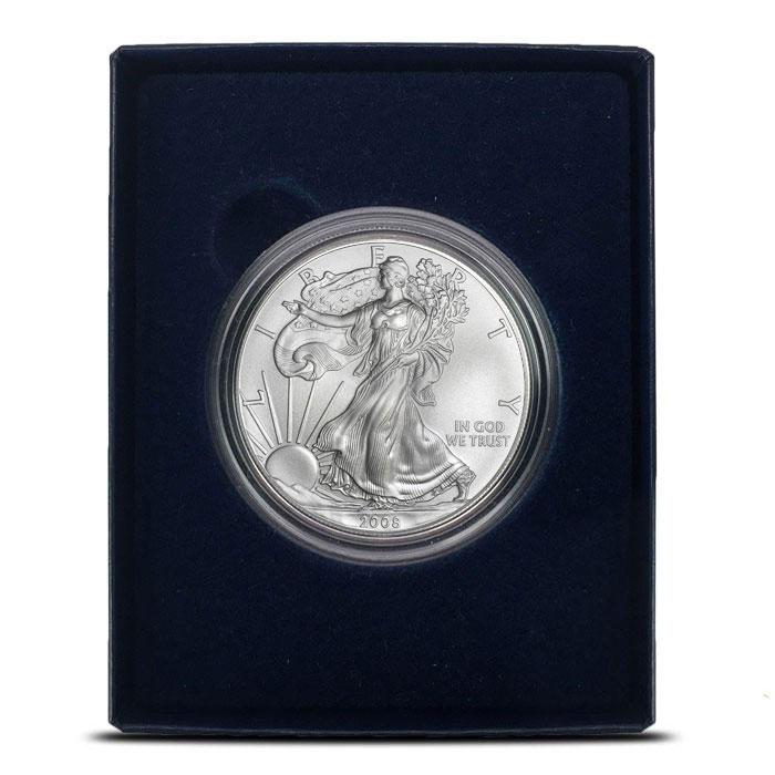 2008-W Silver Eagle in Box