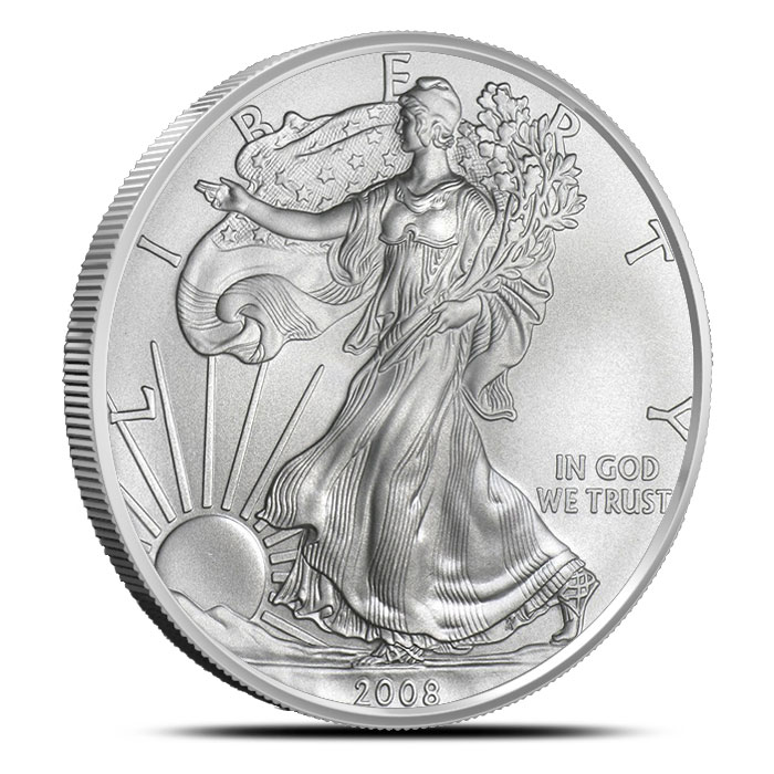 2008-W Burnished American Silver Eagle Obverse